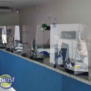 Proteções instaladas em clínica médica - Bauru/SP