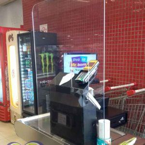 Proteção de acrílico para supermercados (feita sob medida)