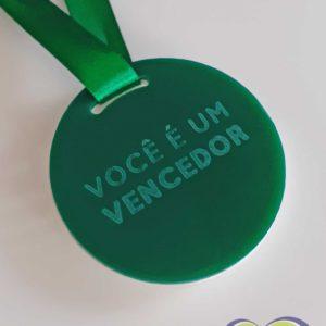 Medalha de acrílico com gravação à laser